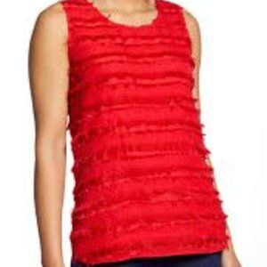 Halogen Scoop Neck Woven Shell NWT